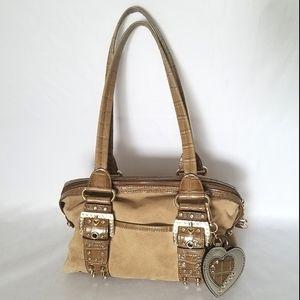 Kathy Van Zeeland Diamond Embellished Shoulder Bag